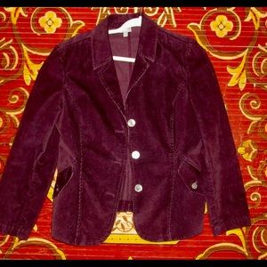 J.Jill magenta  corduroy jacket